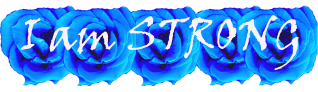 I am Strong blue roses designed for white products copy copy